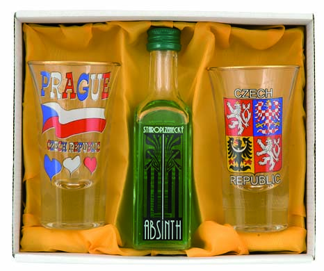 Set Absinth 2 ks sklo